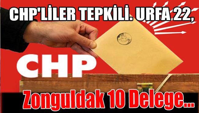 CHP'liler Tepkili. Urfa 22, Zonguldak 10 Delege...