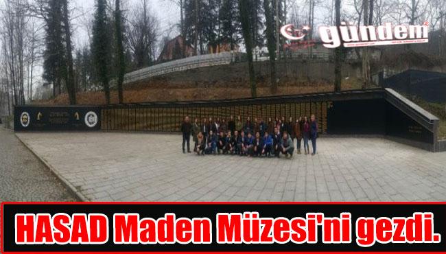 HASAD Maden Müzesi'ni gezdi.
