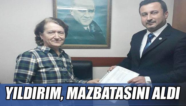 YILDIRIM, MAZBATASINI ALDI