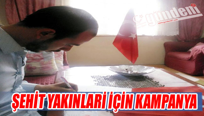 Elvanpazarcık'tan Şehit Yakınlari İçin Kampanya