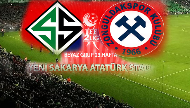 Sakaryaspor, Zonguldak Kömürspor'u konuk ediyor