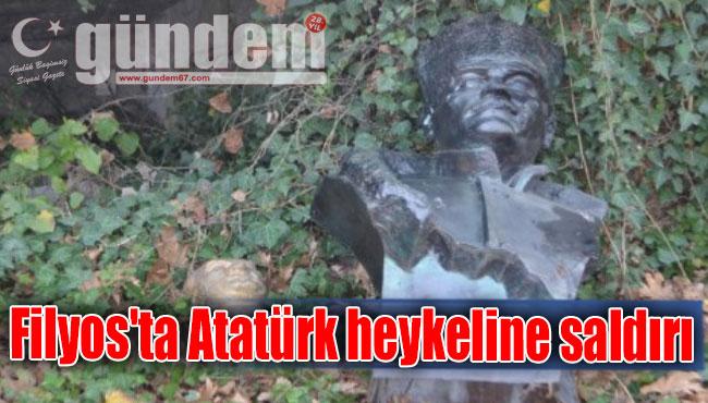 Filyos'ta Atatürk heykeline saldırı