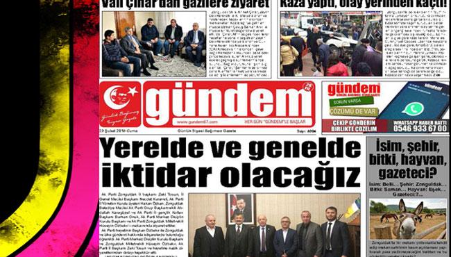 23 Şubat 2018 Gündem Gazetesi