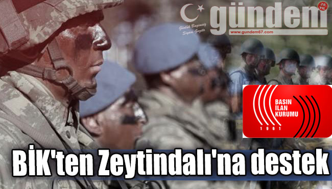 BİK'ten Zeytindalı'na destek