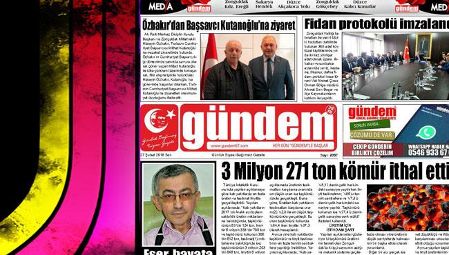 27 Şubat 2018 Gündem Gazetesi