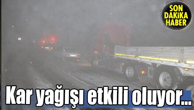 Kar yağışı etkili oluyor...