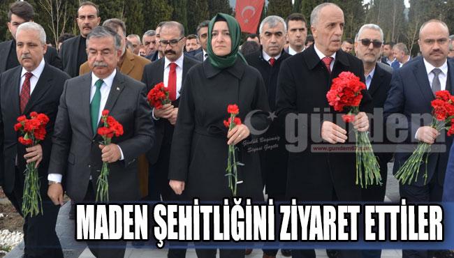 MADEN ŞEHİTLİĞİNİ ZİYARET ETTİLER...