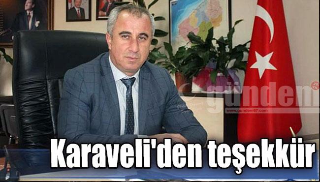 Karaveli'den teşekkür