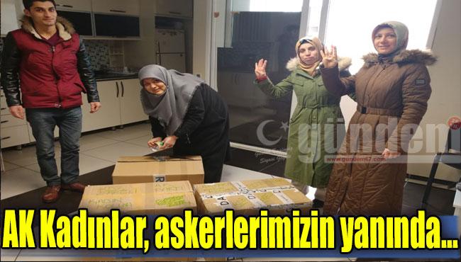 AK Kadınlar, askerlerimizin yanında...
