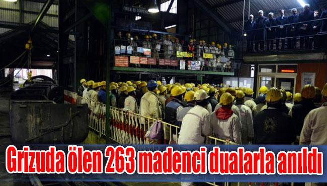 Grizuda ölen 263 madenci dualarla anıldı