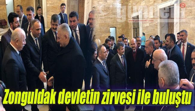 Zonguldak devletin zirvesi ile buluştu