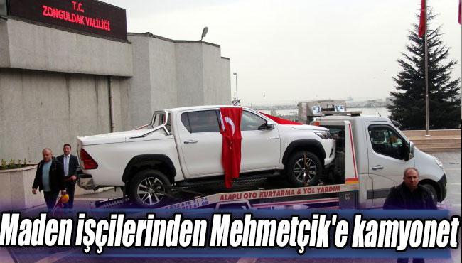 Maden işçilerinden Mehmetçik'e kamyonet