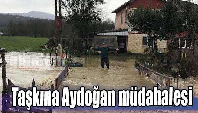 Taşkına Aydoğan müdahalesi