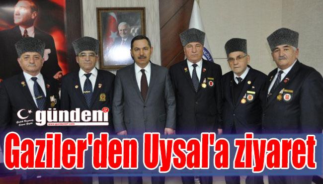 Gaziler'den Uysal'a ziyaret
