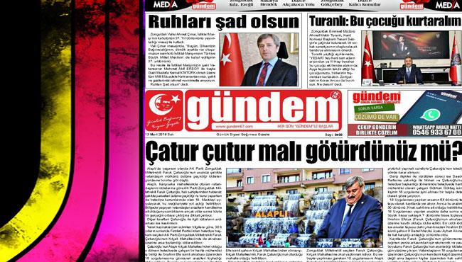 13 Mart 2018 Gündem Gazetesi