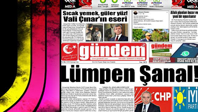 14 Mart 2018 Gündem Gazetesi