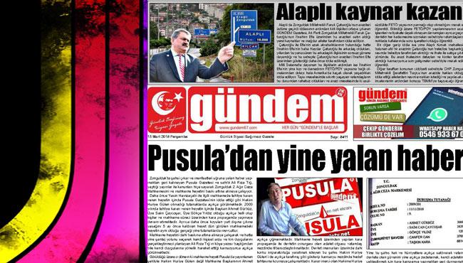 15 Mart 2018 Gündem Gazetesi