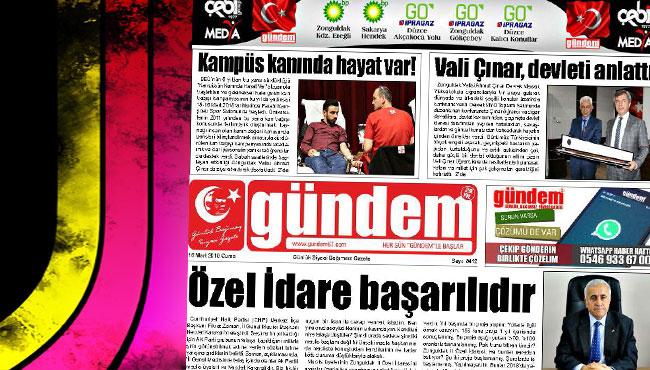 16 Mart 2018 Gündem Gazetesi