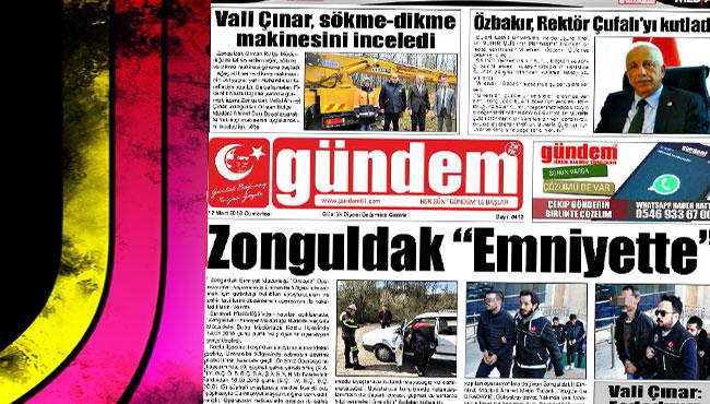 17 Mart 2018 Gündem Gazetesi
