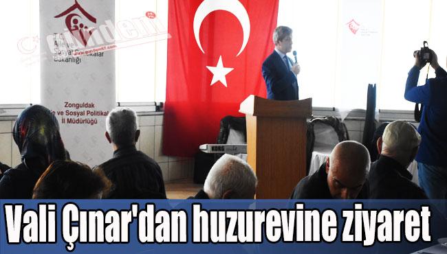 Vali Çınar'dan huzurevine ziyaret