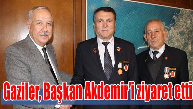 Gaziler, Başkan Akdemir'i ziyaret etti
