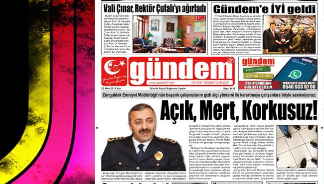 20 Mart 2018 Gündem Gazetesi