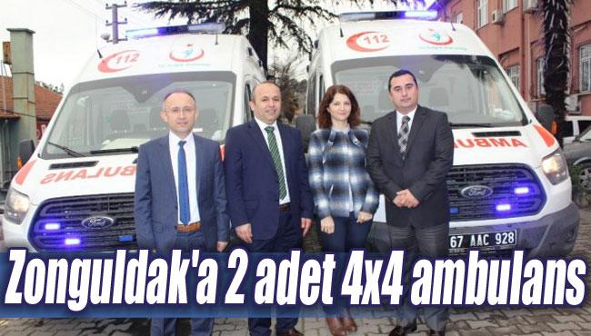 Zonguldak'a 2 adet 4x4 ambulans