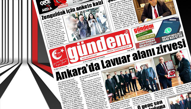 23 Mart 2018 Gündem Gazetesi