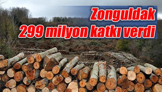 Zonguldak 299 milyon katkı verdi