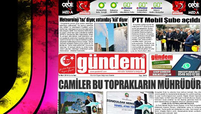24 Mart 2018 Gündem Gazetesi