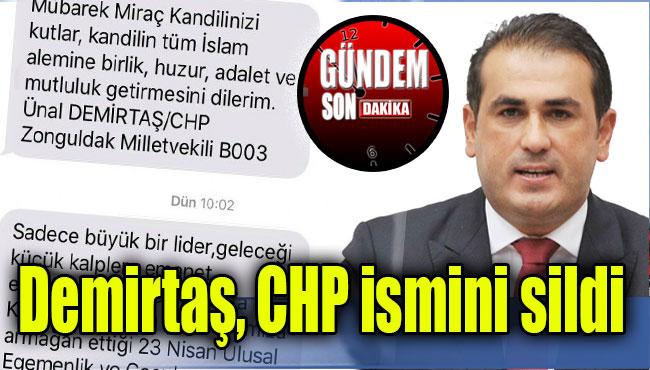 Demirtaş, CHP ismini sildi