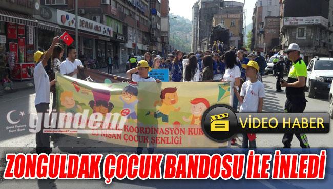 Zonguldak çocuk bandosu ile inledi