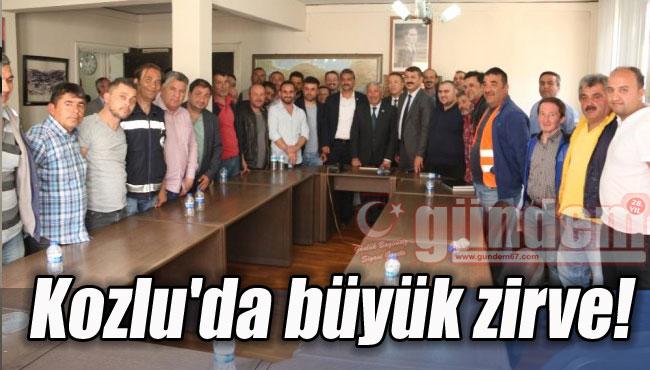 Kozlu'da büyük zirve!