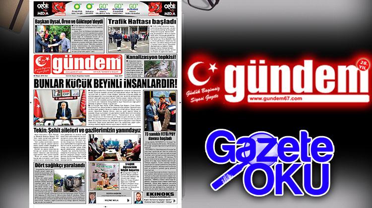 08 Mayıs 2018 Gündem Gazetesi