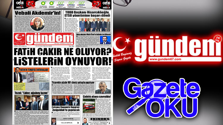 09 Mayıs 2018 Gündem Gazetesi