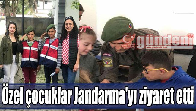 Özel çocuklar Jandarma'yı ziyaret...