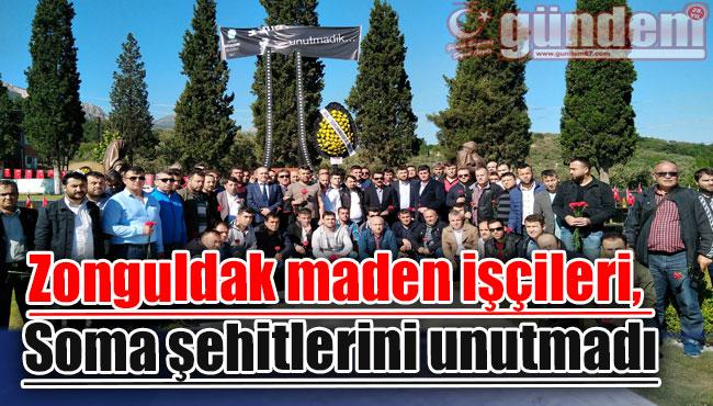 Zonguldak maden işçileri, Soma şehitlerini unutmadı
