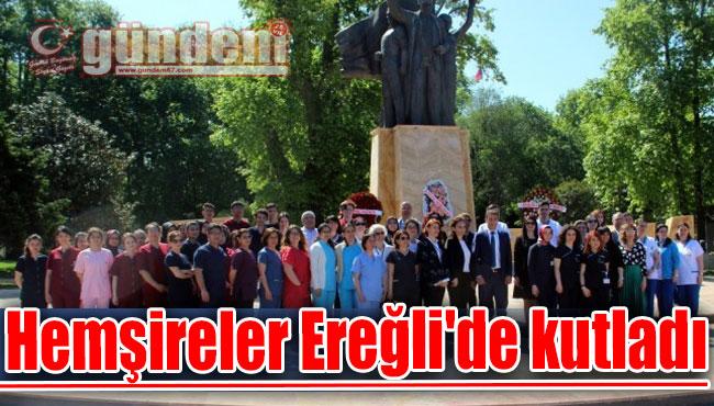 Hemşireler Ereğli'de kutladı
