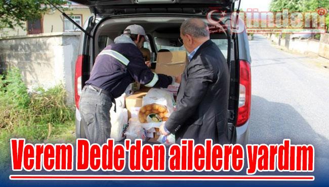 Verem Dede'den ailelere yardım