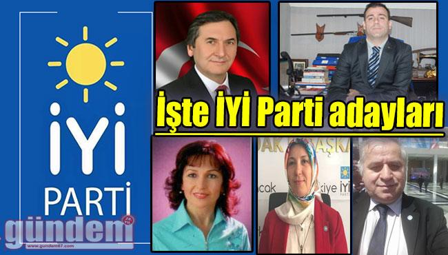 İşte İYİ Parti adayları