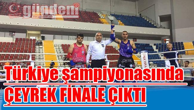 Türkiye şampiyonasında çeyrek finale çıktı