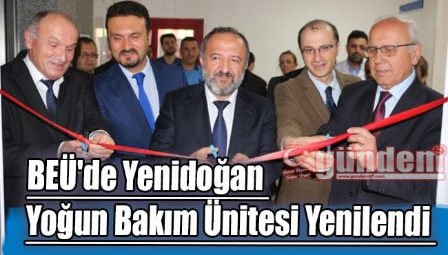 BEÜ'de Yenidoğan Yoğun Bakım Ünitesi Yenilendi