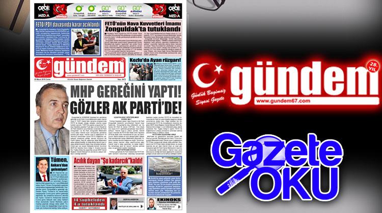 25 Mayıs 2018 Gündem Gazetesi