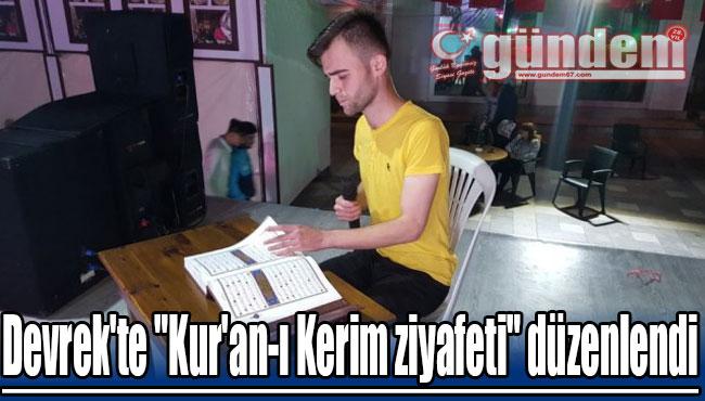 "Devrek'te ""Kur'an-ı Kerim ziyafeti"" düzenlendi"