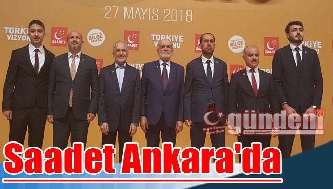 Saadet Ankara'da