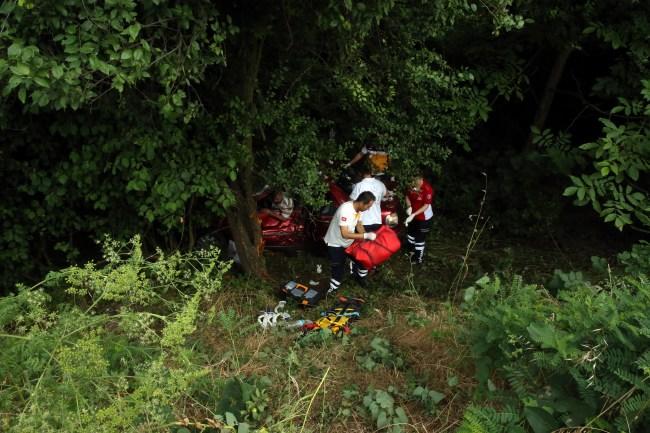 TEM Otoyolun'da Trafik Kazası: 2 ölü, 2 yaralı