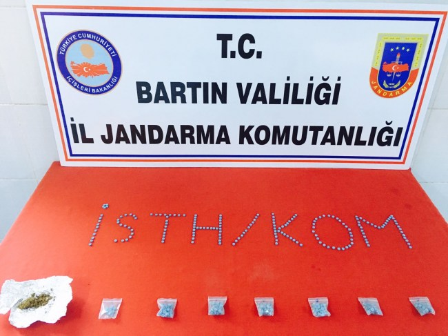 Bartın'da zehir tacirleri operasyonu 2 tutuklama