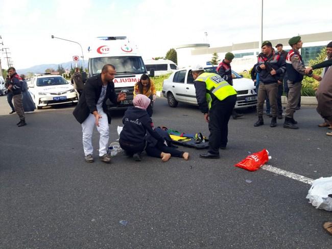 Düzce'de Otomobilin çarptığı yaya ağır yaralandı