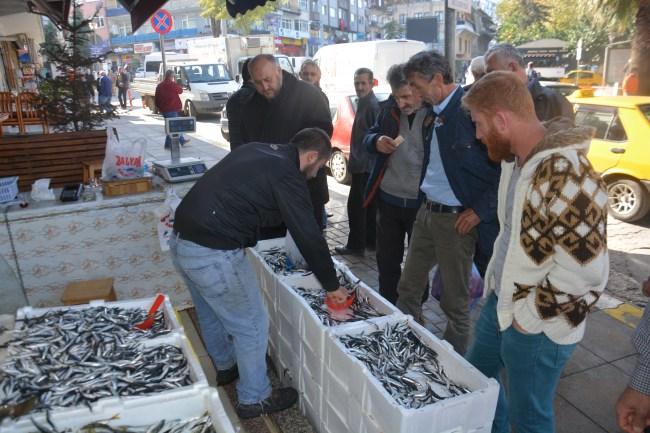balıkçılar, limana tonlarca hamsiyle döndü.
