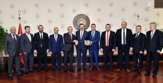 Alaplı TSO'dan Başkan Hisarcıklıoğlu'na ziyaret